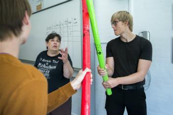 Stemningsbillede fra Junior Talent på Bjerringbro Gymnasium